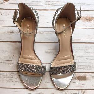 Sliver glitter high heels